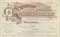 Mercerie, bonneterie Louis Jourdan à Avignon, 1930.
