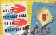 Salon international de la manutention, 6ème salon de l'emballage (revue Emballages et manutention, n° 133, septembre 1952).	1952.