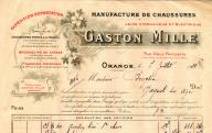Gaston Mille, manufacture de chaussures à Orange, 1921